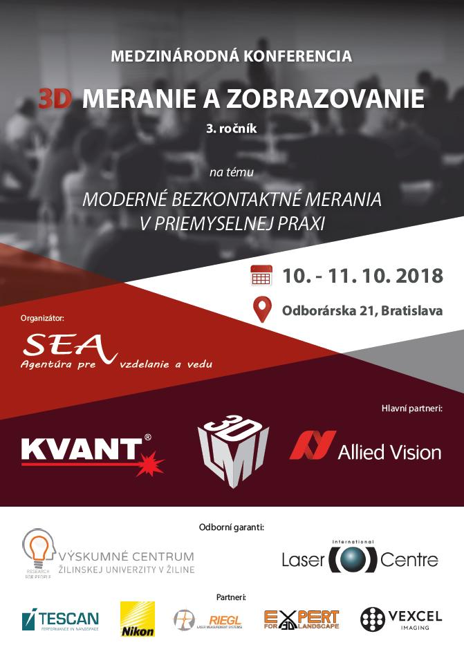 Medzinárodná konferencia 3D merania a zobrazovanie - 3. ročník